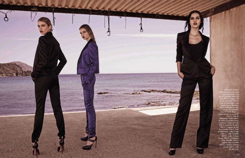 vogue es007 800x516 Stella, Gabby + Morgane Model Masculine Fashions for Vogue Spain by Mariano Vivanco