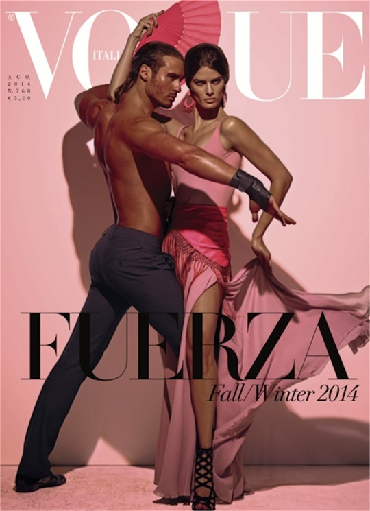 Isabeli Fontana Covers Vogue Italia's August Issue by Steven Meisel