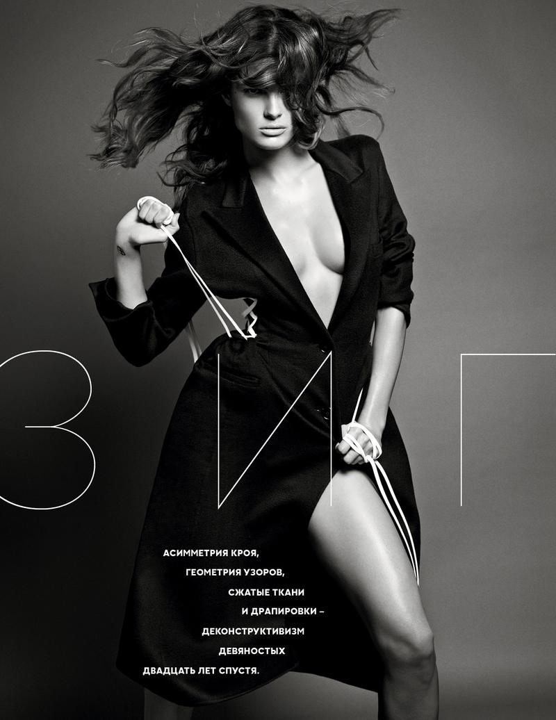 vogue ru002 Isabeli Fontana Turns Up the Glam for Vogue Russias New Cover Story