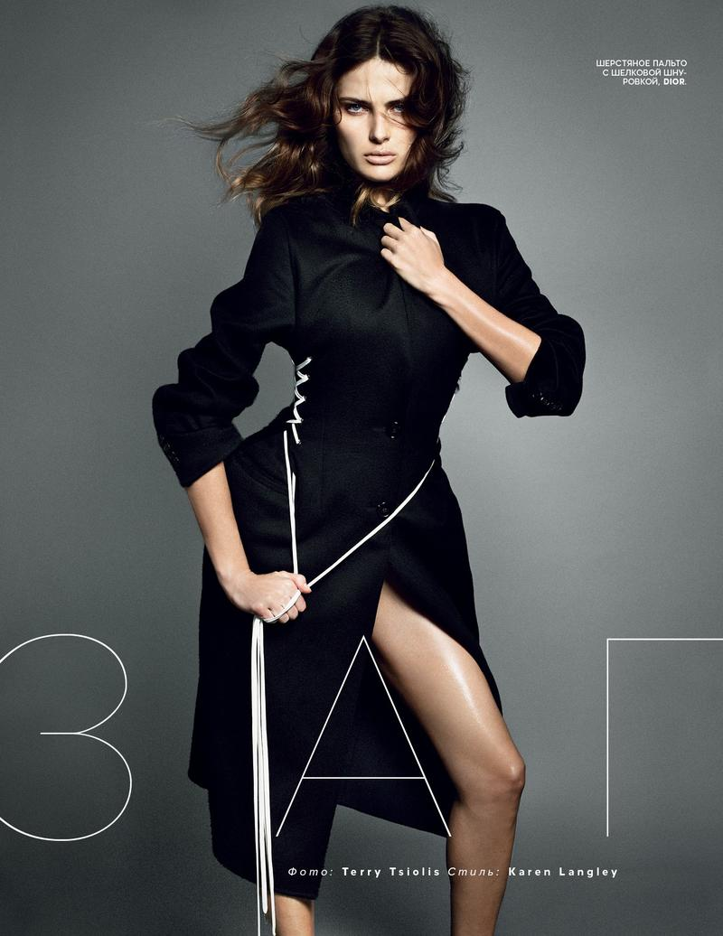 vogue ru003 Isabeli Fontana Turns Up the Glam for Vogue Russias New Cover Story