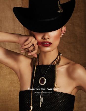 Konichiwa Cowboy: Sissi Hou by Michael Flores for Schön Magazine