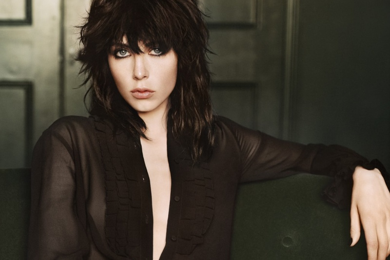 ysl black opium fragrance 20141 Edie Campbell to Front YSL Black Opium Fragrance