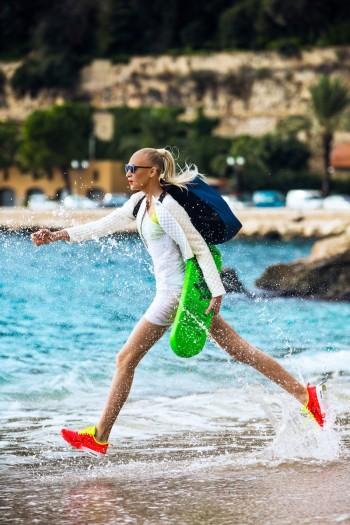 Yulia Lobova Gets Active for Bazaar Poland by Michelle Du Xuan