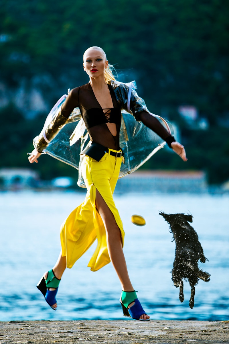 yulia lobova model5 Yulia Lobova Gets Active for Bazaar Poland by Michelle Du Xuan