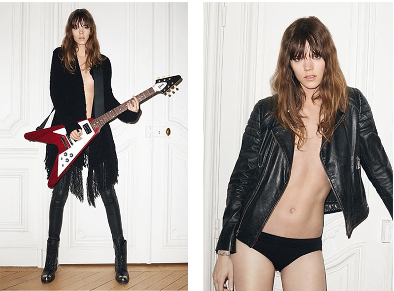 zadig voltaire 2014 fall winter campaign3 Freja Beha Erichsen is Back for Zadig & Voltaires Fall 2014 Ads