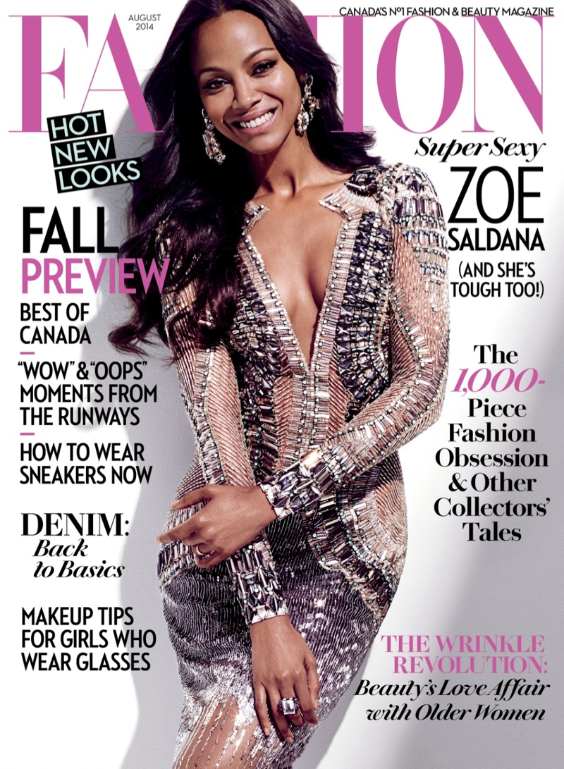 zoe saldana fashion magazine2 Zoe Saldana Covers FASHION Magazine, Talks Nina Simone Role Controversy