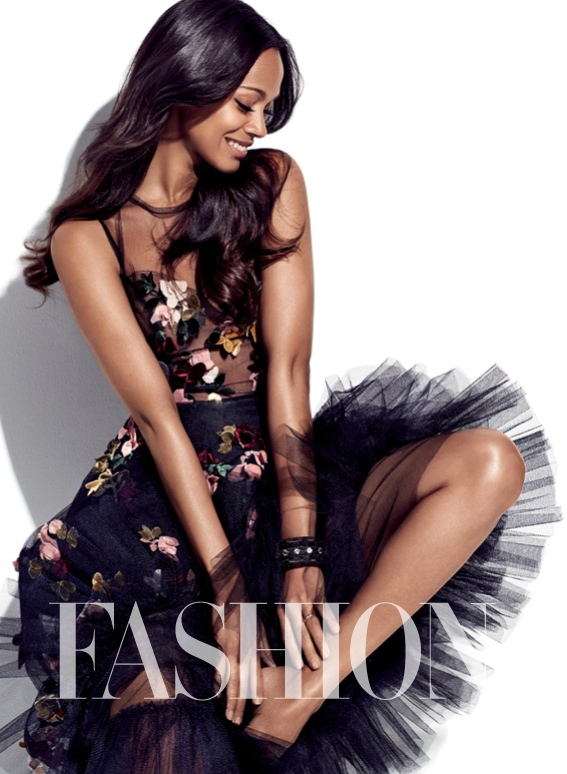 zoe saldana fashion magazine3 Zoe Saldana Covers FASHION Magazine, Talks Nina Simone Role Controversy