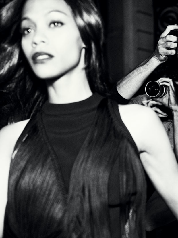 zoe saldana marie claire 2014 2 Zoe Saldana Poses for Marie Claire, Talks Relationships