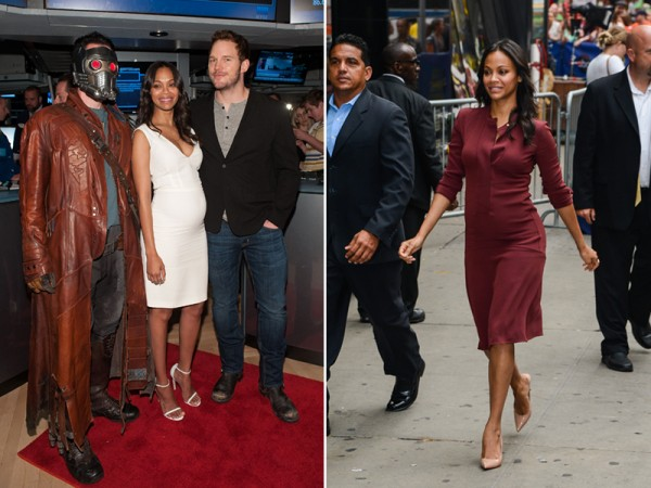 zoe-saldana-pregnant-calvin-klein-collection
