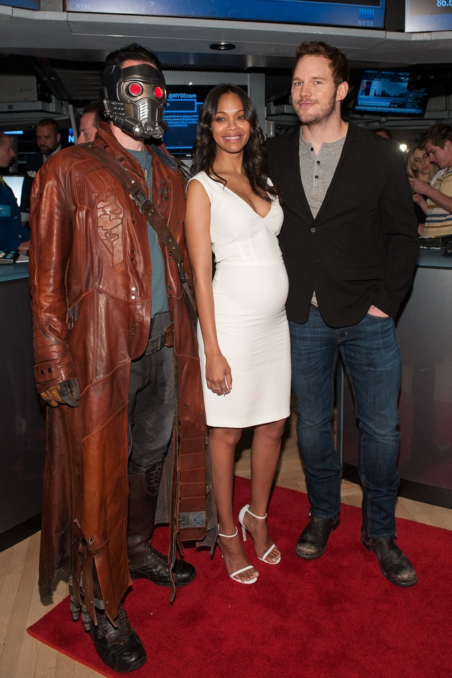 """Guardians Of The Galaxy"" Cast Ring The New York Stock Exchange Opening Bell"