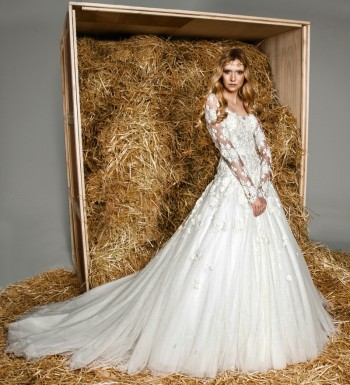 Zuhair Murad Presents a Modern Fairytale for Spring 2015 Bridal Collection