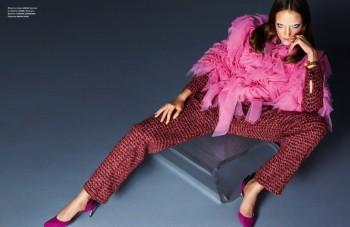 Zuzanna Bijoch Models Eccentric Style for Numero Russia Cover Shoot