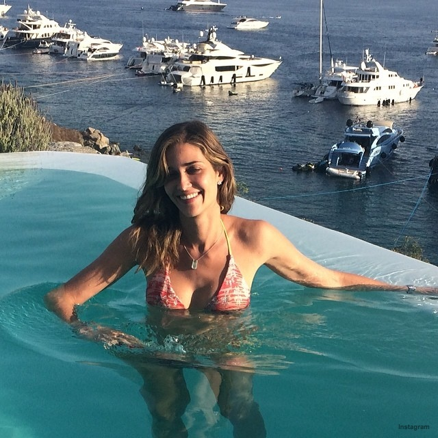 Ana Beatriz Barros poses in a bikini
