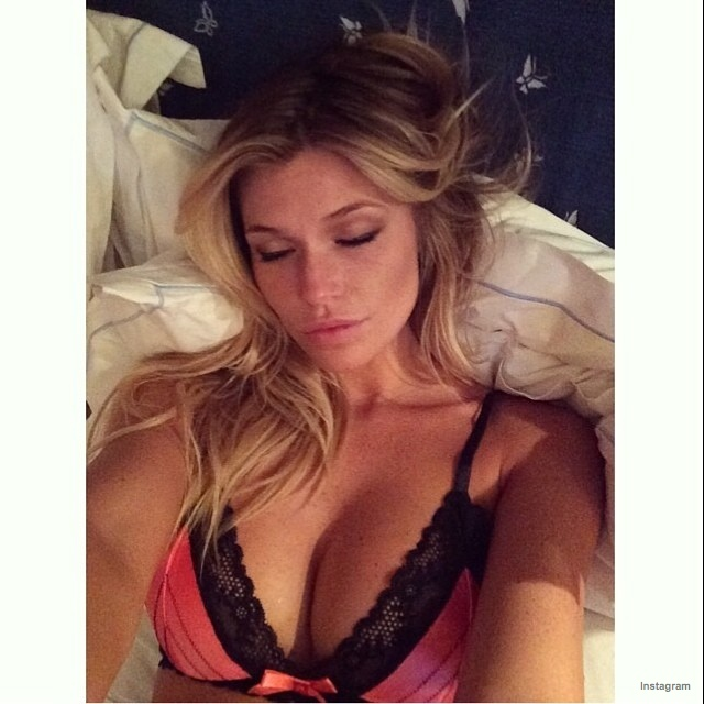 Samantha Hoopes catches some Zzzs in Beach Bunny Swimwear