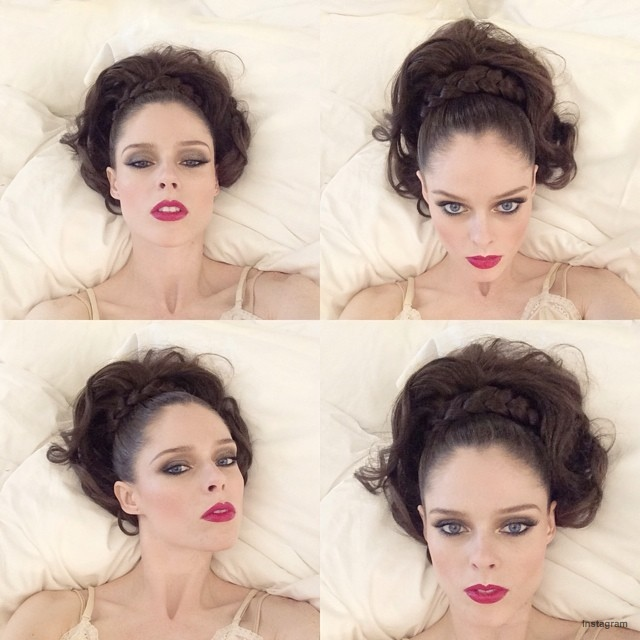 Coco Rocha shows off a bold beauty look