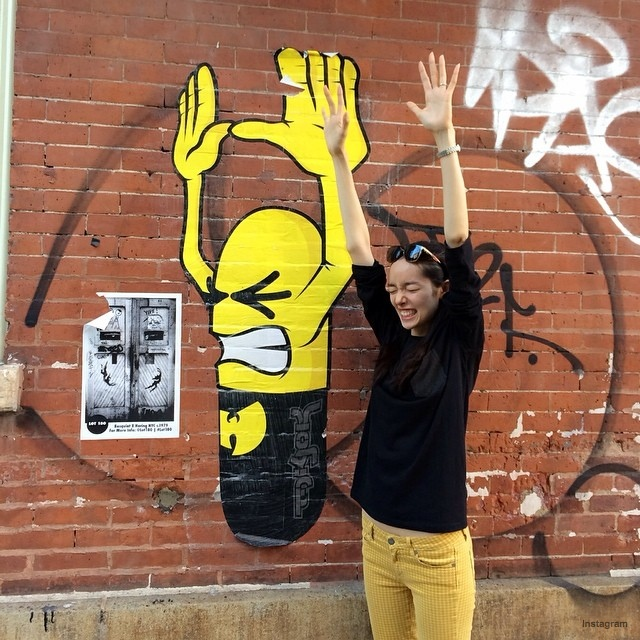 Fei Fei Sun has some fun with street art