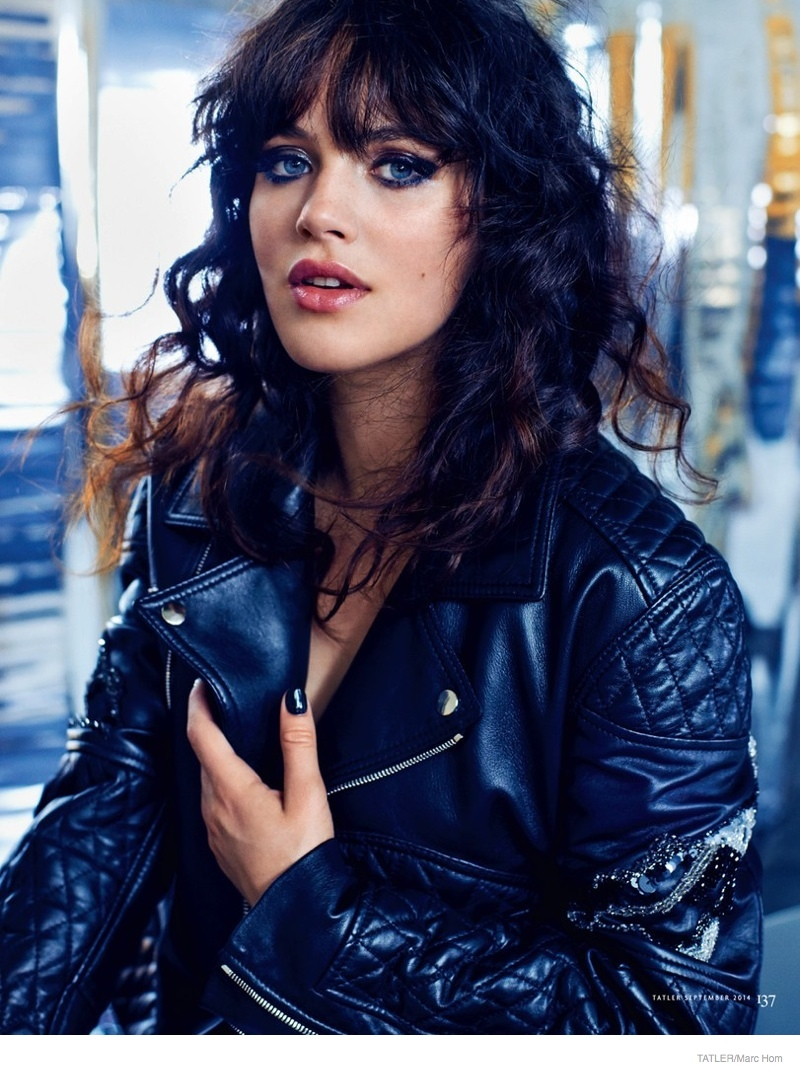 Downtown Abbey Star Jessica Brown Findlay Poses For Marc
