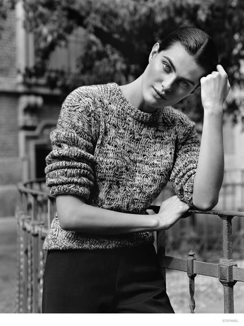 Stefanel Fall 2014 Ad Campaign Isabeli Fontana1 Isabeli Fontana in Knitwear Looks for Stefanel Fall 2014 Campaign