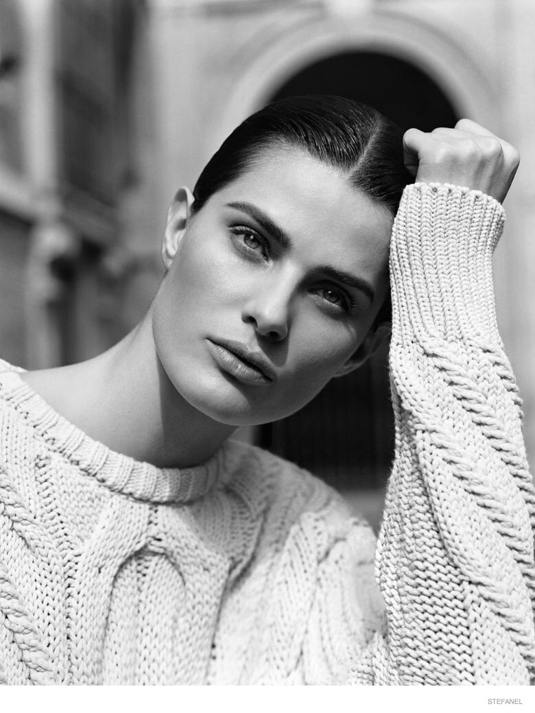 Isabeli Fontana in Knitwear Looks for Stefanel Fall 2014 Campaign