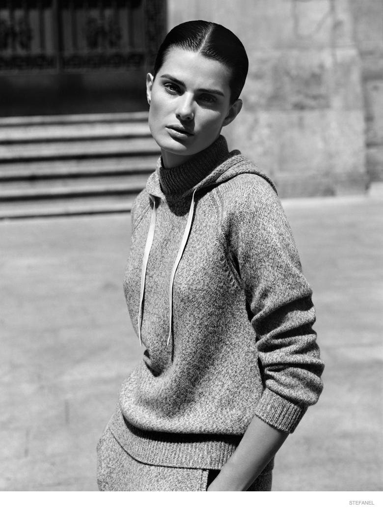 Stefanel Fall 2014 Ad Campaign Isabeli Fontana3 Isabeli Fontana in Knitwear Looks for Stefanel Fall 2014 Campaign