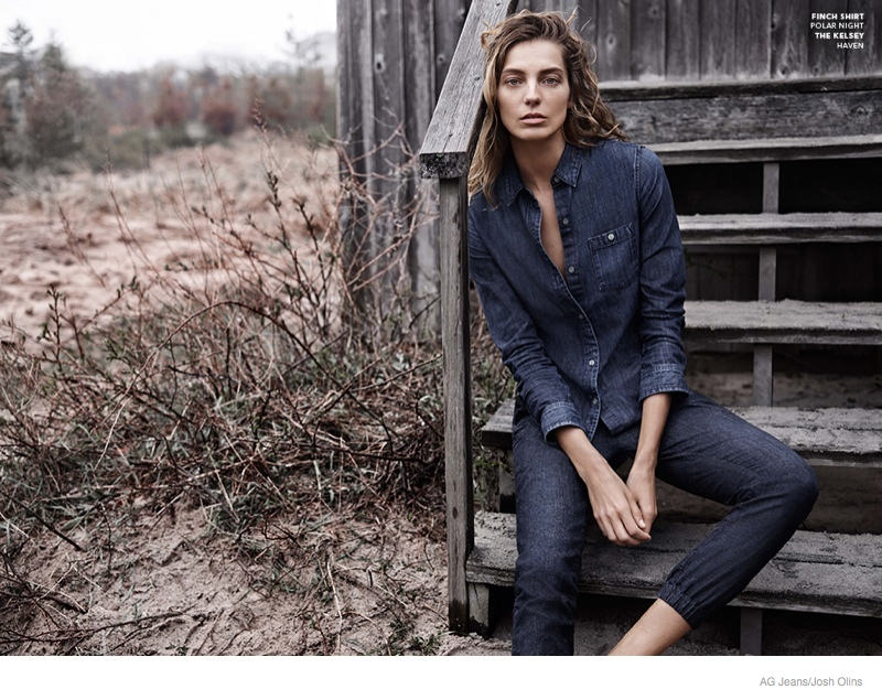 Daria Werbowy stars in AG Jeans' fall 2014 campaign