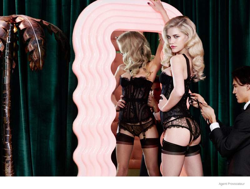 Ashley Smith + Dioni Tabbers Star in Agent Provocateur's Sexy Fall Lookbook Images