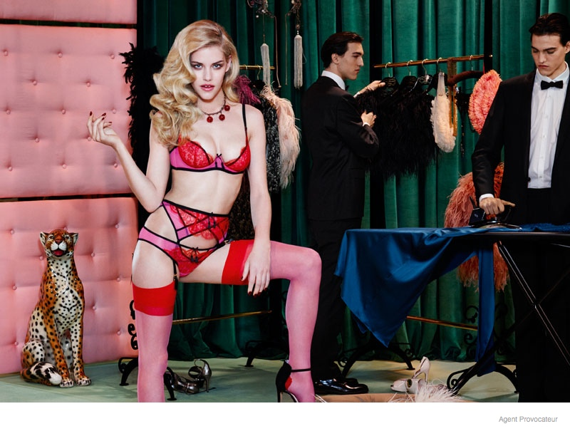 agent provocateur underwear fall 2014 lookbook07 Ashley Smith + Dioni Tabbers Star in Agent Provocateurs Sexy Fall Lookbook Images