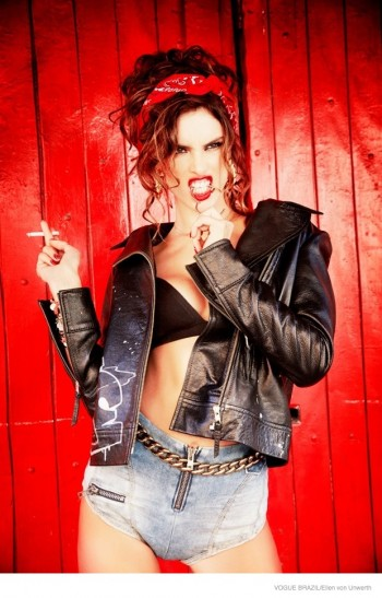 Alessandra Ambrosio is a Modern Pin-Up for Vogue Brazil by Ellen Von Unwerth