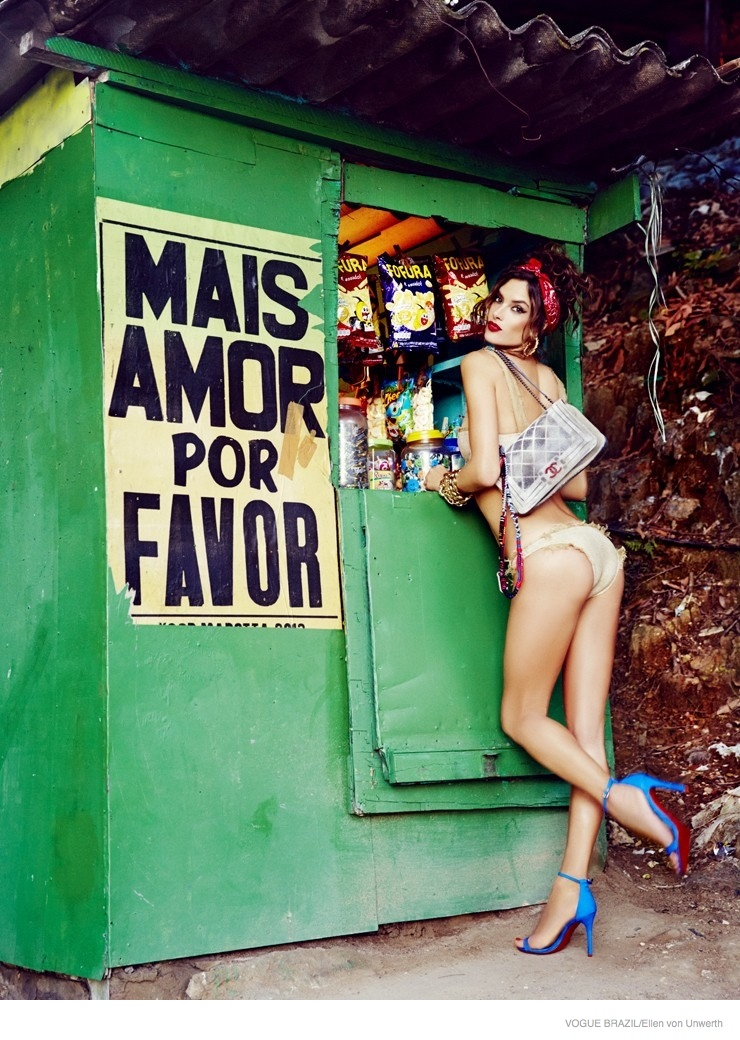 alessandra ambrosio ellen von unwerth 2014 08 Alessandra Ambrosio is a Modern Pin Up for Vogue Brazil by Ellen Von Unwerth