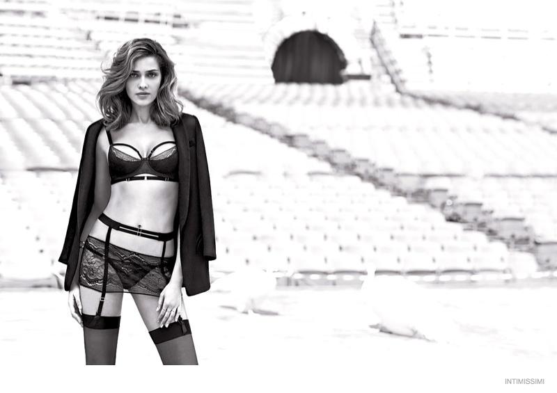 ana beatriz underwear intimissimi 2014 fall campaign09 Ana Beatriz Barros Wears Sexy Lingerie in Intimissimis Fall 2014 Campaign