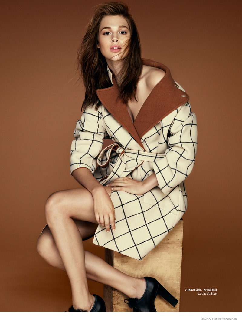 Anais Pouliot Impresses In 70s Styles For Bazaar China By Jason Kim