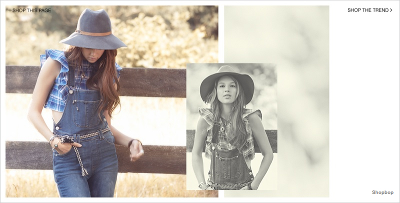 Anais Pouliot is Cowgirl Cool in Shopbop's Western Trend Guide
