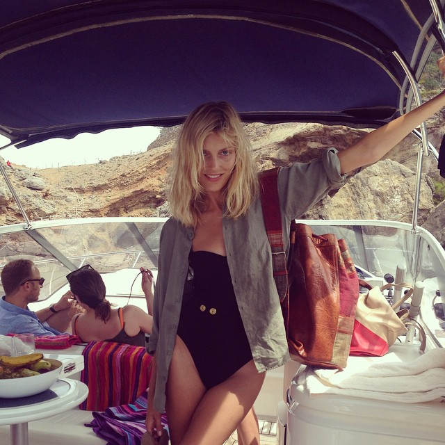 anja boat Instagram Photos of the Week | Petra Nemcova, Ana Beatriz Barros + More Models