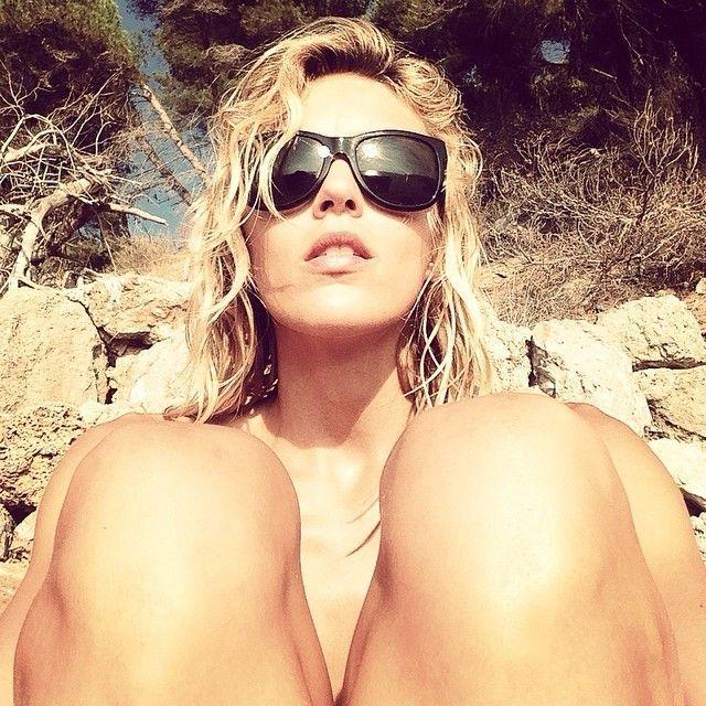 Anja Rubik in sunglasses