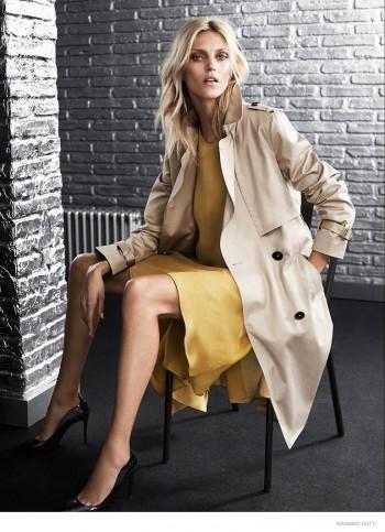 Anja Rubik Wears Elegant Outerwear in Massimo Dutti New York City Fall 2014 Ads