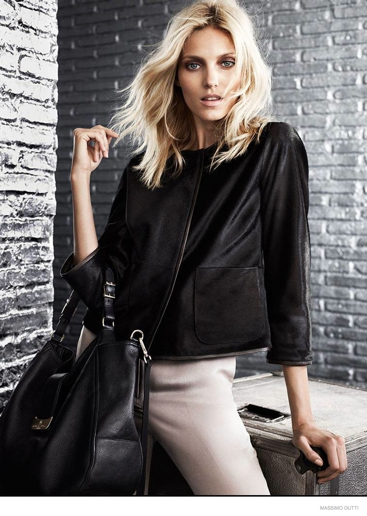 anja rubik massimo dutti fall 5th ave collection 2014 06 Anja Rubik Wears Elegant Outerwear in Massimo Dutti New York City Fall 2014 Ads