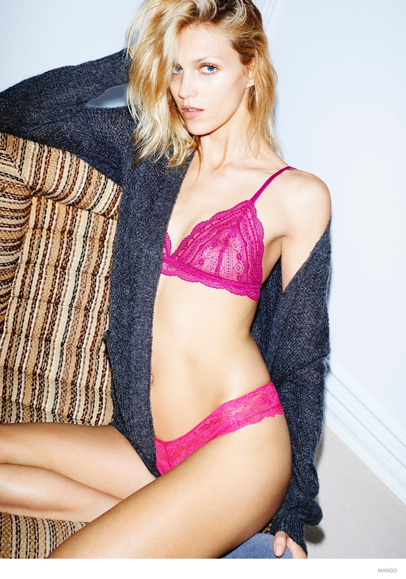anja rubik underwear mango intimates02 Anja Rubik Models Underwear Styles for Mango Intimates Shoot