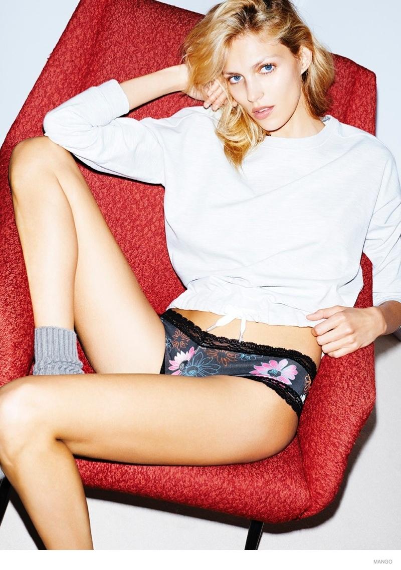 Anja Rubik Models Underwear Styles For Mango Intimates