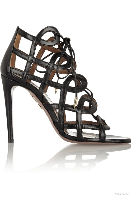 Aquazarra + Olivia Palermo cutout leather sandals available at Net-a-Porter for $810.00