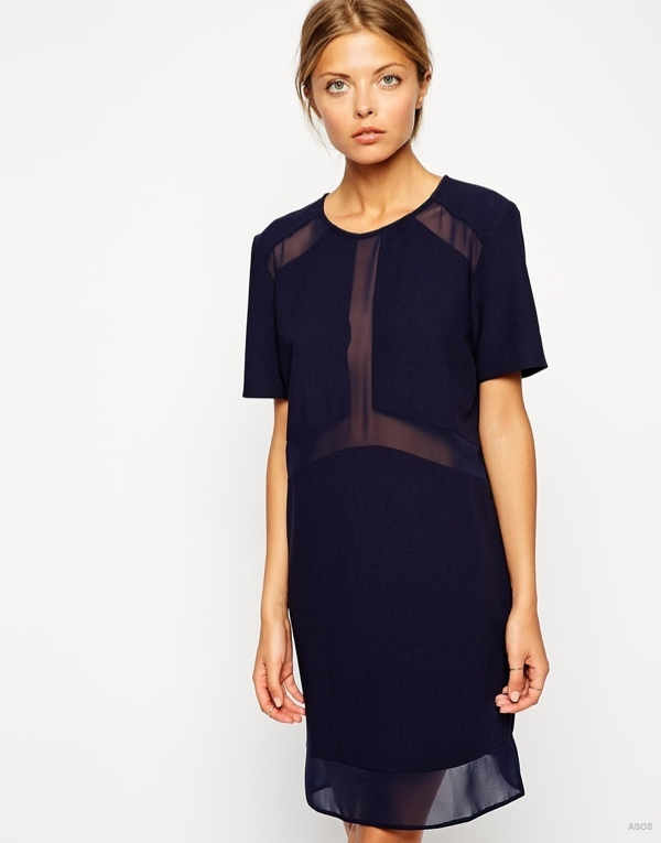 Sheer and Solid T-shirt Dress available at ASOS for $67.71