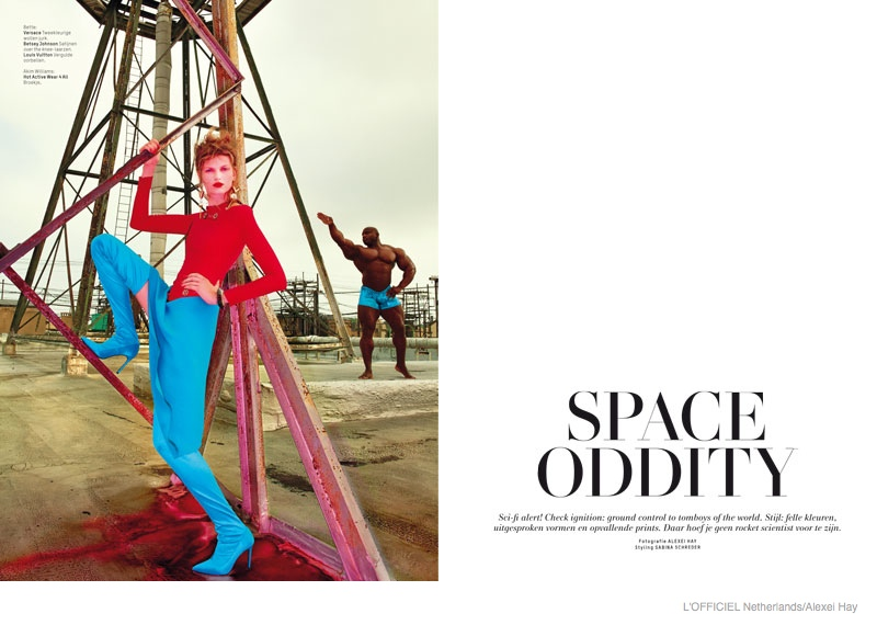 bette frank new york lofficiel nl fashion02 Bette Franke is Sci Fi Chic in L'Officiel Netherlands September Cover Story
