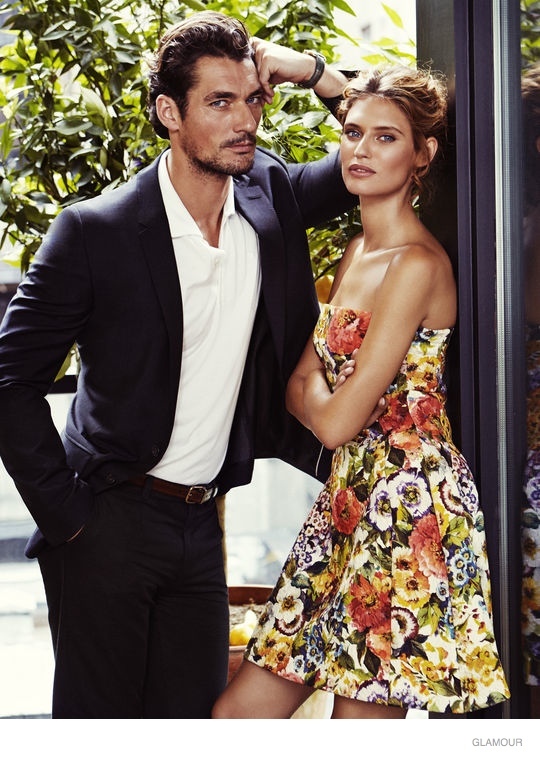 Bianca Balti Poses for Glamour, Talks Women's Beauty Trends with David Gandy