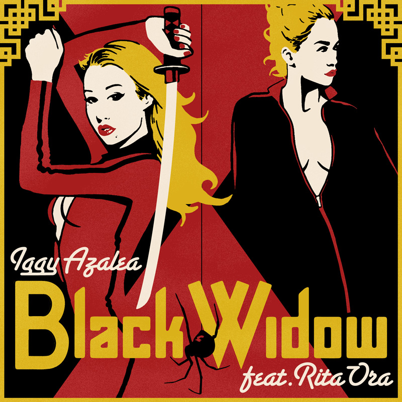 """Black Widow"" Single Cover with Iggy Azalea and Rita Ora"