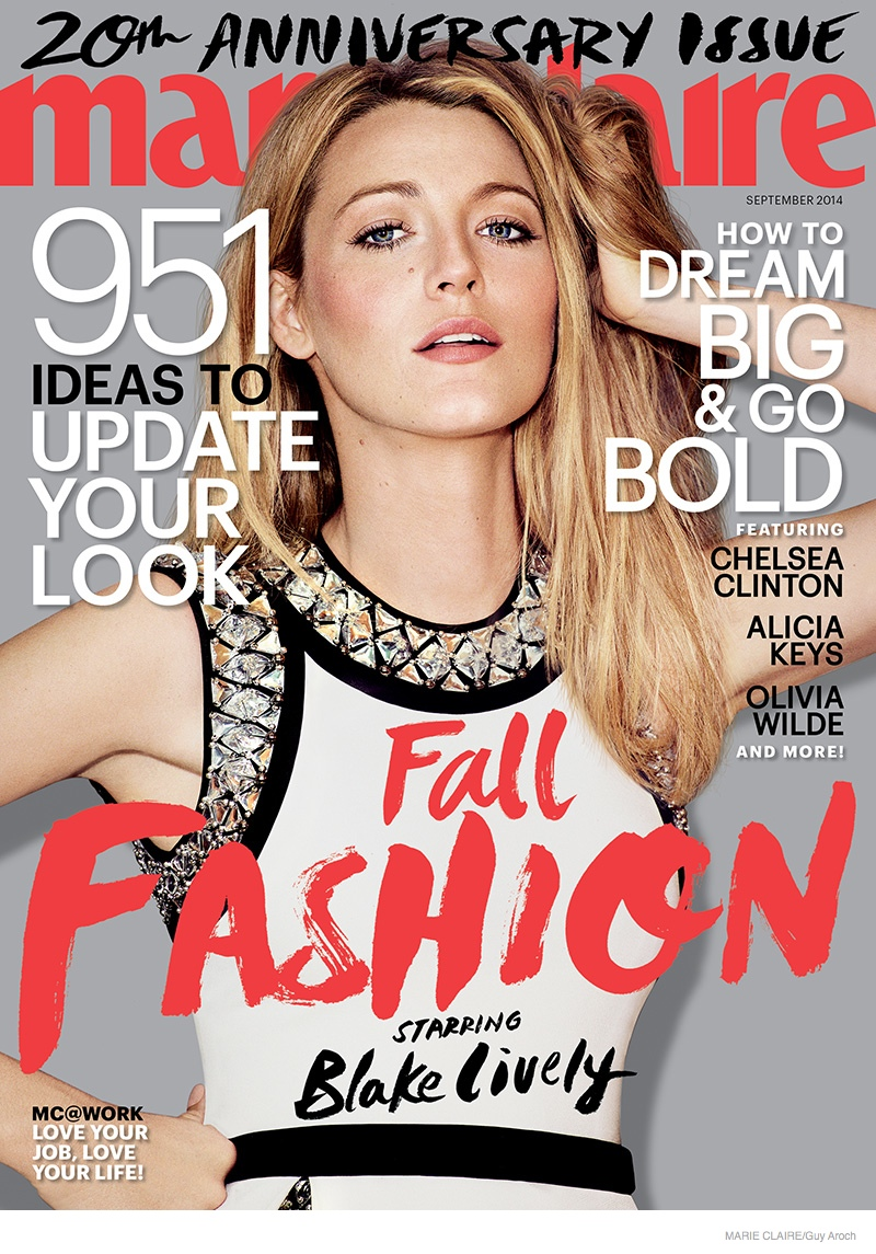 blake lively marie claire 2014 02 Blake Lively Stars in Marie Claire, Talks Preserve & Wanting Kids