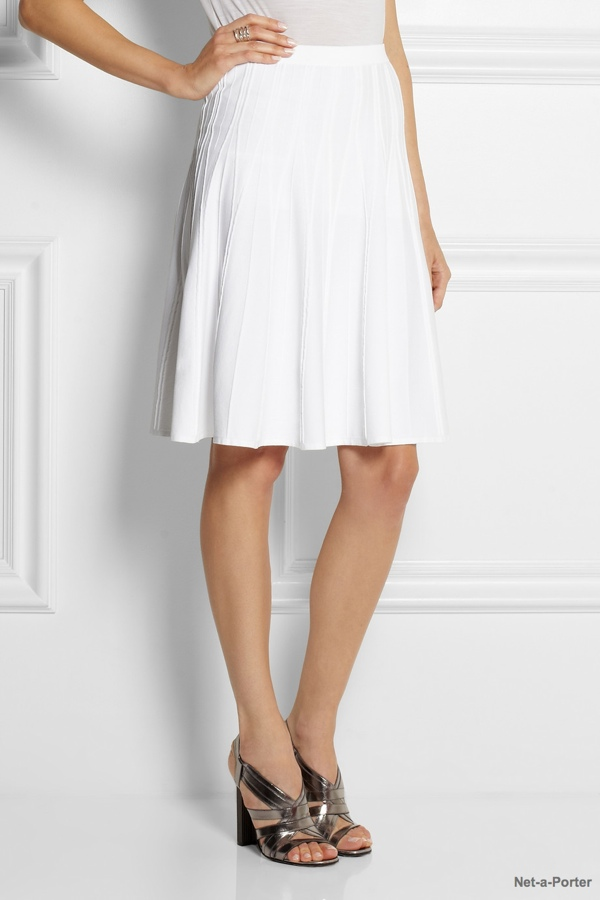 Calvin Klein Collection Roddy pleated stretch-crepe skirt available at Net-a-Porter for $750.00