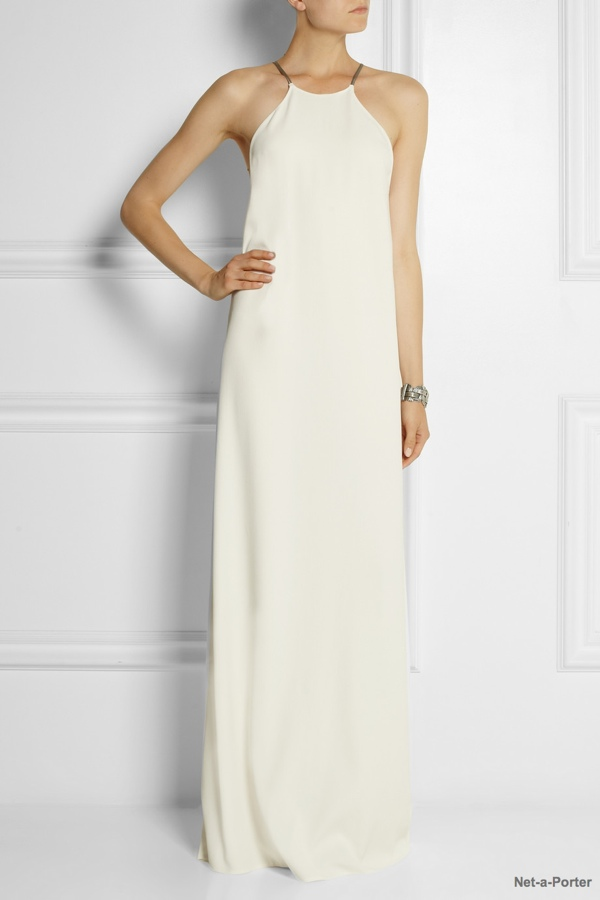 Calvin Klein Collection Jarvis crepe maxi dress available at Net-a-Porter for $1,750.00