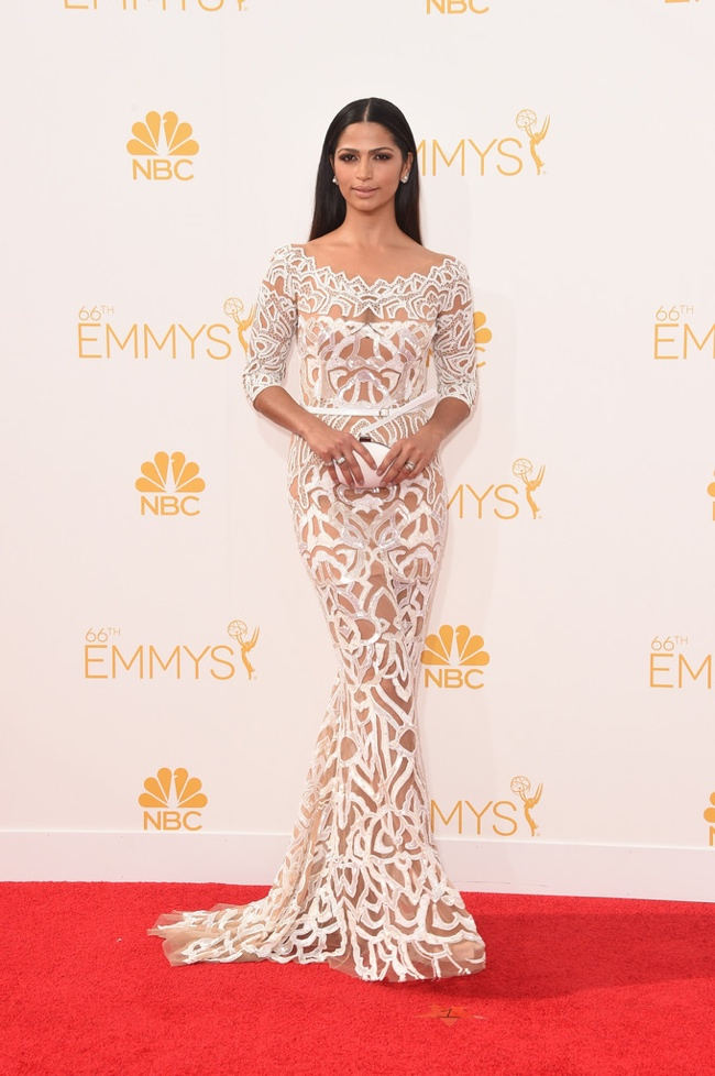 camila alves zuhair murad dress emmys 2014 Emmys Red Carpet Style