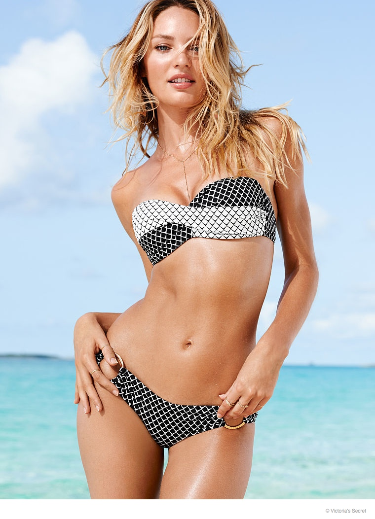 Candice Swanepoel is a Beach Babe for Victoria's Secret