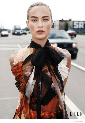 Carolyn Murphy Hits Detroit Streets for ELLE's September Issue