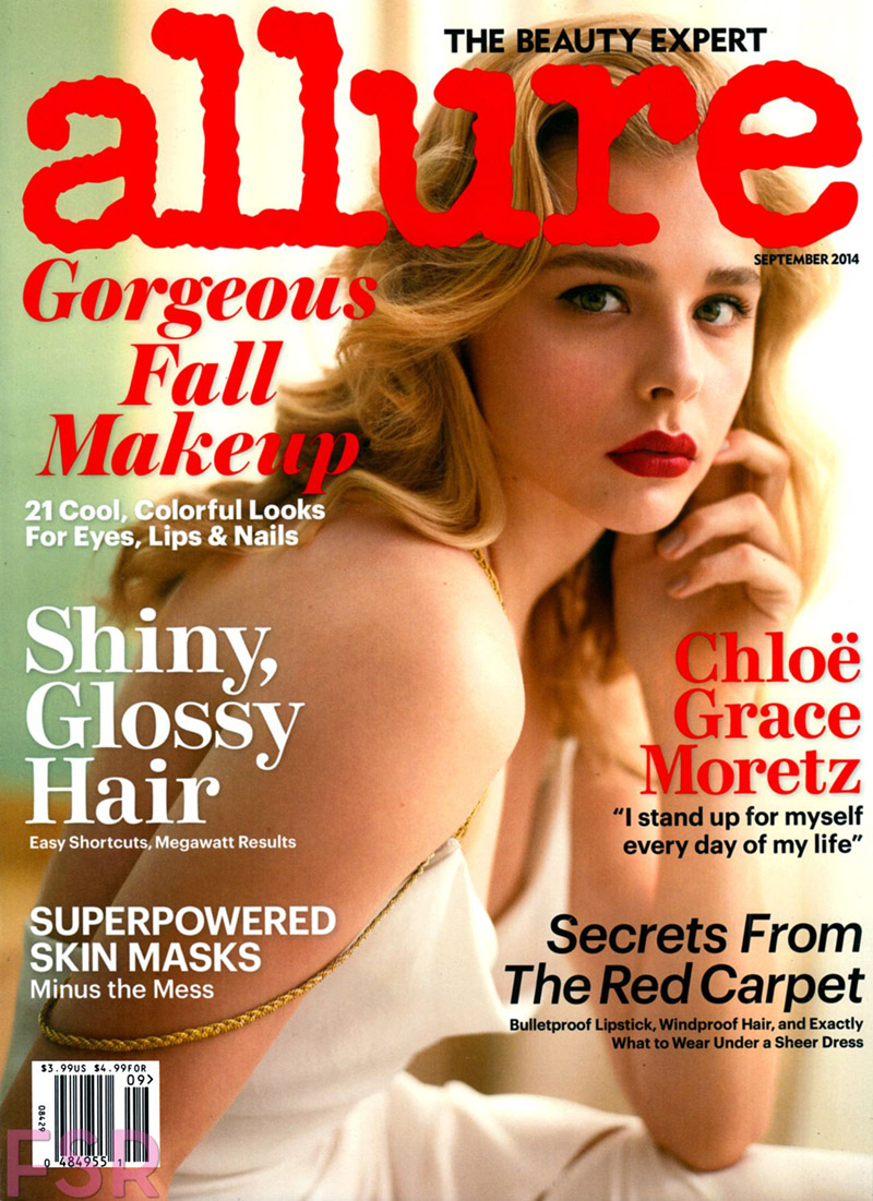 Chloe Grace Moretz Wears Red Lipstick on Allure September 2014 Cover